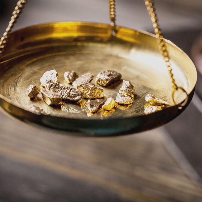 Sieraden van oud goud